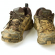 Stock Photo: Dirty trainers