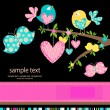 Royalty-Free Stock Vectorielle: Birds in love