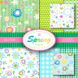 Spring patterns - Stock Vector