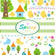 Spring patterns — Stock Vector #9218454