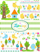 Spring patterns — Stock Vector