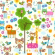 Animals background — Stock Vector #9295281