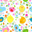 Birds background — Stock Vector