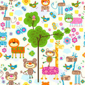Animals background — Stock Vector
