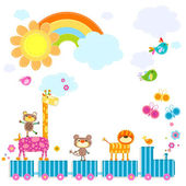 Zoo train — Stock Vector