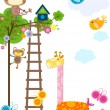 Animals background — Imagen vectorial