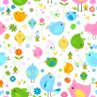 Birds background — Imagen vectorial