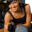 Beautiful woman exercising at the gym — Stock Photo