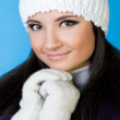 Beautiful woman in winter fashion. — Stock Photo