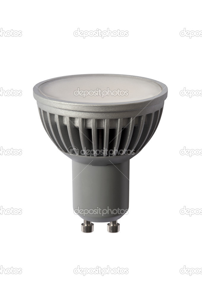 LED energy safing bulb. Light-emitting diode. Isolated object — Stock Photo #8985336