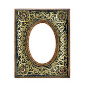 Antique ornate frame with white background. — Stock Photo