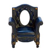 Antique frame in the form of the chair. Isolated image. — Stock Photo