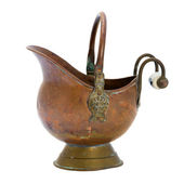 Antique copper jar. Isolated image. — Stock Photo