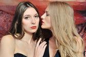 Two beautiful women in oriental interior — Fotografia Stock