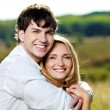 Happy couple outdoors — Stock Photo #8873035