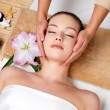 Massage for the skin on face — Stock Photo