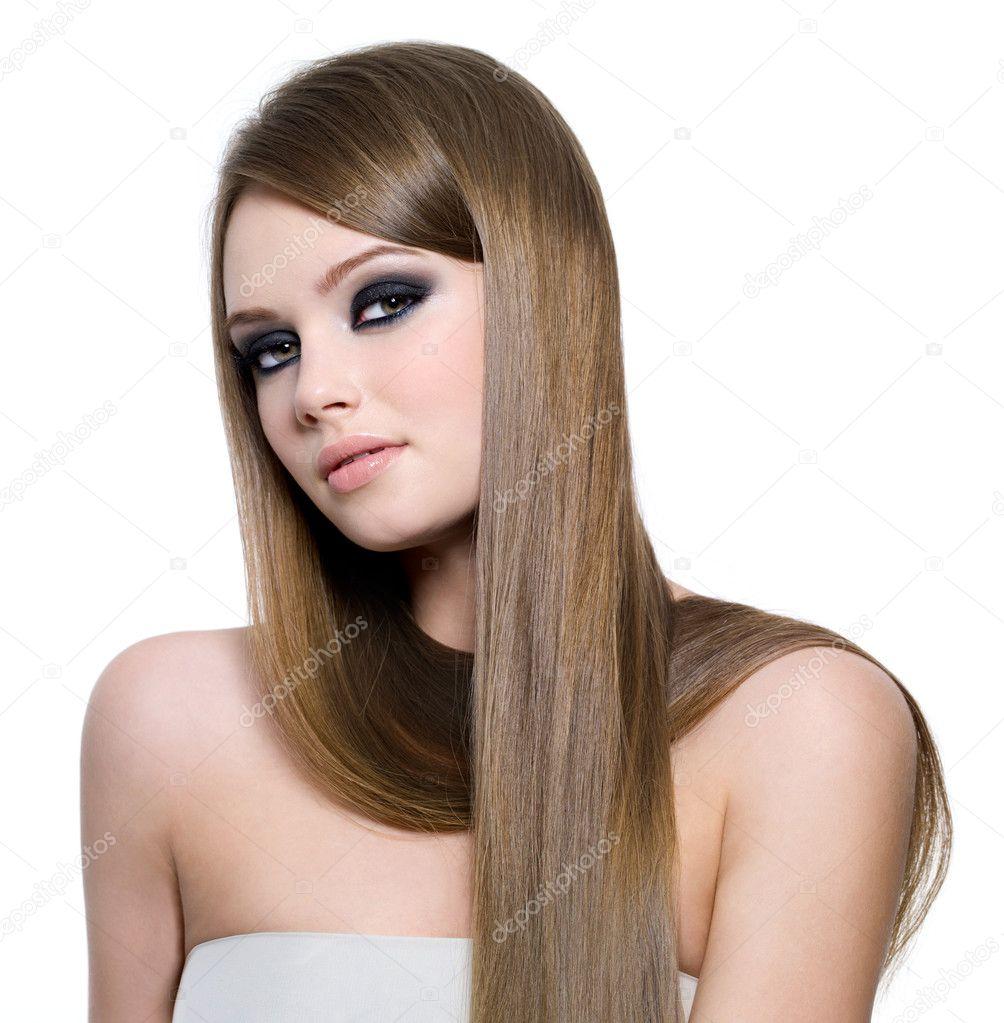 Гламурные девушки сдлинными волосами фото