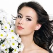 Royalty-Free Stock Photo: Woman with flowers
