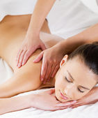 Massage on shoulder for woman — Stock Photo