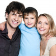 Photo: Happy young family with son