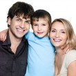 Happy young family with son — Stockfoto #9182169