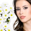 Royalty-Free Stock Photo: Beautiful face of woman with flowers