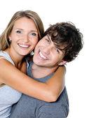 Ritratto di una coppia felice — Foto Stock