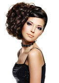 Beautiful woman with hairstyle and makeup — Stock Photo