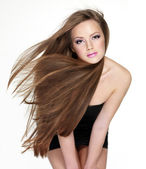 Beautiful woman with long hair — Foto Stock