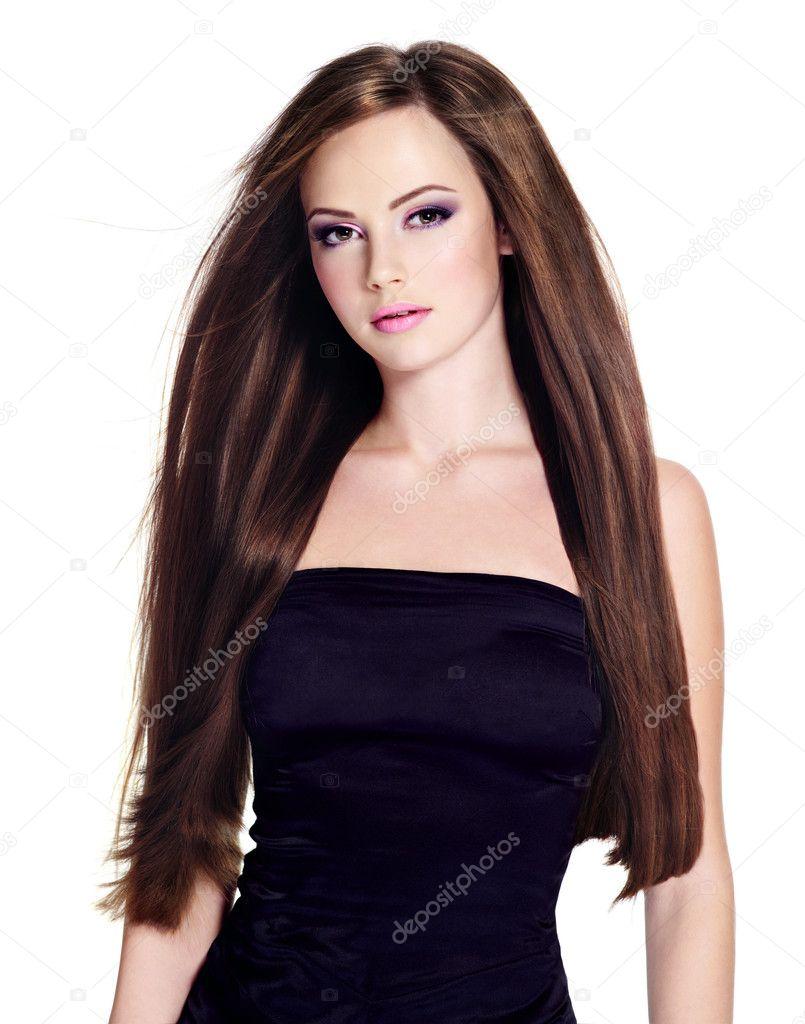 Фто шатенок с красивыми волосами 4 фотография