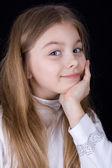 Heureux temps pour petite fille — Photo