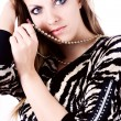 Stock Photo: ambition and greed in fashion woman with jewelry