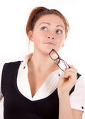 Young adult businesswoman — Stock Photo