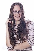 Gözlük kadın — Stok fotoğraf