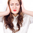 Frustrated Girl closes his ears — Stock Photo #9032833