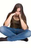 Offended by teen girl — Stock Photo