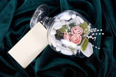 Jewelry in a glass — Stock Photo
