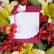 Abstract background of flowers. Greeting card. — Stock Photo #9850166