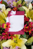 Abstract background of flowers. Greeting card. — Stock Photo