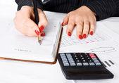 Business Woman writing — Stock Photo