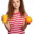 Royalty-Free Stock Photo: Girl with orange juice