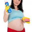 Pregnant housewife — Stock Photo #10030902