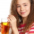 Royalty-Free Stock Photo: Girl with apple juice