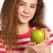Girl with apple — Stock Photo #10464380