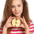 Girl with apple — Stock Photo #10464386