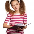 Girl with book — Stock Photo #10464391