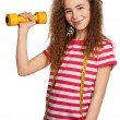 Girl with dumbbells — Stock Photo #10464402