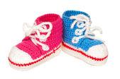 Baby booties — Stock Photo