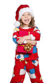 Little girl in pajamas — Stock Photo