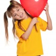 Girl with heart — Stock Photo #8352100